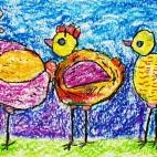 """10.03.2019 / """"Цыплята"""" в Творческой студии. Автор работы: Аксёнова Амелина (5 лет)"""