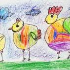 """10.03.2019 / """"Цыплята"""" в Творческой студии. Автор работы: Ушакова Алиса (5 лет)"""