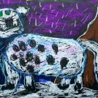 """18.03.2019 / """"Снежный барс"""" в Творческой студии. Автор работы: Алпатов Максим (5 лет)"""