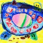 """25.03.2019 / """"Черепашка"""" в Творческой студии. Автор работы: Ушакова Алиса (5 лет)"""