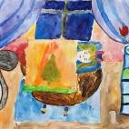 """30.03.2019 / """"Дюймовочка"""" в Творческой студии. Автор работы: Ландик Александра (7 лет)"""