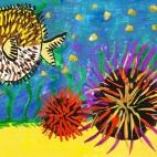 """31.03.2019 / """"Морские ежи"""" в Творческой студии. Автор работы: Тарасова Анастасия (8 лет)"""