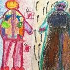 """01.04.2019 / """"Веселое и грустное"""" в Творческой студии. Автор работы: Аксёнова Амелина (5 лет)"""