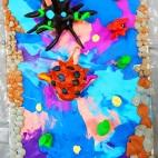 """01.04.2019 / """"Морские ежи"""" в Творческой студии. Автор работы: Осаченко Ника (9 лет)"""