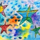 """07.04.2019 / """"Морские звезды"""" в Творческой студии. Автор работы: Ижболдина Мария (8 лет)"""