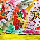 """07.04.2019 / """"Морские звезды"""" в Творческой студии. Автор работы: Ижболдина Маргарита (5 лет)"""
