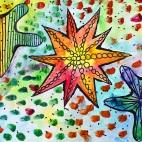 """07.04.2019 / """"Морские звезды"""" в Творческой студии. Автор работы: Упорова Алиса (9 лет)"""