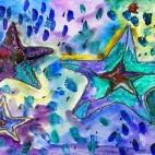 """07.04.2019 / """"Морские звезды"""" в Творческой студии. Автор работы: Осаченко Ника (9 лет)"""