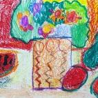 """15.04.2019 / """"Натюрморт"""" в Творческой студии. Автор работы: Аксёнова Амелина (5 лет)"""