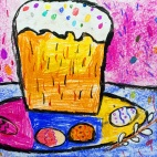 """29.04.2019 / """"Пасха"""" в Творческой студии. Автор работы: Аксёнова Амелина (5 лет)"""
