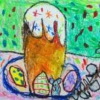 """29.04.2019 / """"Пасха"""" в Творческой студии. Автор работы: Алпатов Максим (5 лет)"""