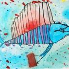 """15.05.2019 / """"Рыба-парусник"""" в Творческой студии. Автор работы: Упорова Алиса (9 лет)"""