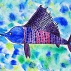 """15.05.2019 / """"Рыба-парусник"""" в Творческой студии. Автор работы: Ижболдина Мария (8 лет)"""