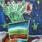 """20.05.2019 / """"Кактус"""" в Творческой студии. Автор работы: Кравченко Юля (5 лет)"""