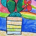 """20.05.2019 / """"Кактус"""" в Творческой студии. Автор работы: Аксёнова Амелина (5 лет)"""