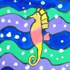"""27.05.2019 / """"Морской конек"""" в Творческой студии. Автор работы: Ижболдина Мария (8 лет)"""