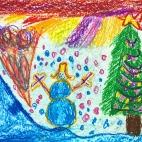 """21.01.2019 / """"Новый год"""" в Творческой студии. Автор работы: Аксёнова Амелина (5 лет)"""