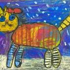 """21.01.2019 / """"Кошка"""" в Творческой студии. Автор работы: Ушакова Алиса (5 лет)"""