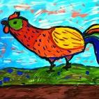 """02.02.2019 / """"Петушок"""" в Творческой студии. Автор работы: Борисова Анастасия (7 лет)"""