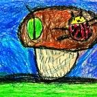 """04.02.2019 / """"Грибы"""" в Творческой студии. Автор работы: Кравченко Юля (5 лет)"""