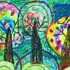 """11.02.2019 / """"Деревья"""" в Творческой студии. Автор работы: Аксёнова Амелина (5 лет)"""
