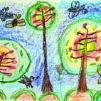 """11.02.2019 / """"Деревья"""" в Творческой студии. Автор работы: Ушакова Алиса (5 лет)"""