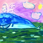 """13.02.2019 / """"Кит"""" в Творческой студии. Автор работы: Васильева Анна (5 лет)"""
