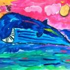 """13.02.2019 / """"Кит"""" в Творческой студии. Автор работы: Ижболдина Маргарита (5 лет)"""
