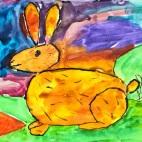 """23.02.2019 / """"Кролик"""" в Творческой студии. Автор работы: Упорова Алиса (9 лет)"""