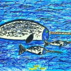 """04.03.2019 / """"Нарвал"""" в Творческой студии. Автор работы: Клемин Лев (8 лет)"""