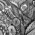 """16.03.2019 / """"Doodle"""" в Творческой студии. Автор работы: Агеева Татьяна Алексеевна"""