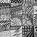 """11.05.2019 / """"Doodle, Zentangle"""" в Творческой студии. Автор работы: Агеева Татьяна Алексеевна"""