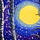 """23.11.2017 / Мастер-класс """"Лунная ночь зимой"""" в Библиотеке им. Лихачева"""