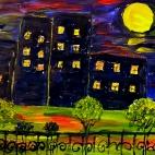 """13.07.2017 / Мастер-класс """"Ночной город"""" в Библиотеке Удельнинской"""