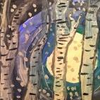 """23.11.2017 / Мастер-класс """"Лунная ночь зимой"""" в Библиотеке Удельнинской"""