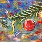 """21.12.2017 / Мастер-класс """"Новогоднее настроение"""" в Библиотеке Удельнинской"""