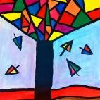 """01.02.2018 / Мастер-класс """"Дерево-витраж"""" в Библиотеке Удельнинской"""