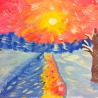 """08.02.2018 / Мастер-класс """"Зимнее солнце"""" в Библиотеке Удельнинской"""