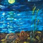 """Группа №1 / 20.09.2018 / Тема """"Лунная ночь"""" в Библиотеке Удельнинской"""