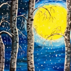 """Группа №2 / 20.12.2018 / Тема """"Лунная ночь"""" в Библиотеке Удельнинской"""