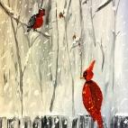 """Группа №1 / 13.12.2018 / Тема """"Красный кардинал"""" в Библиотеке Удельнинской"""