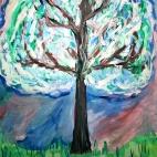 """16.07.2017 / Мастер-класс """"Цветущее дерево"""" в Библиотеке """"СВОя"""""""